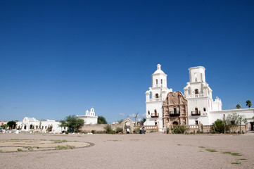 San Xavier del Bac the Spanish Catholic Mission Tucson Arizona