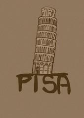 Tower of Pisa vintage