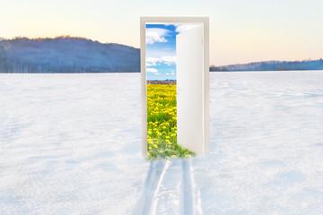 Open door to spring - Der Frühling kommt