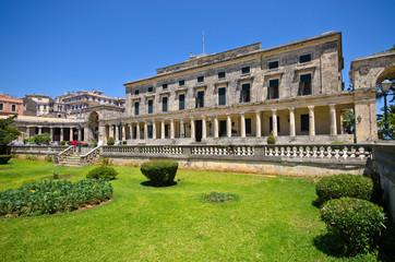 Old palace in Corfu town, Greece