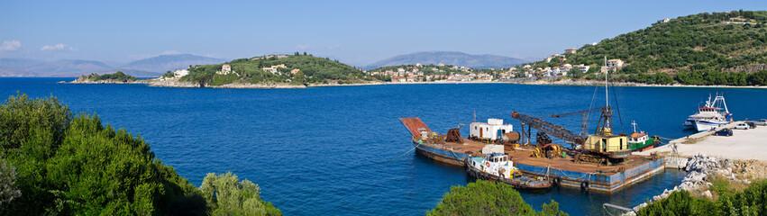 Industrial port near Kassiopi village - Corfu, Greece
