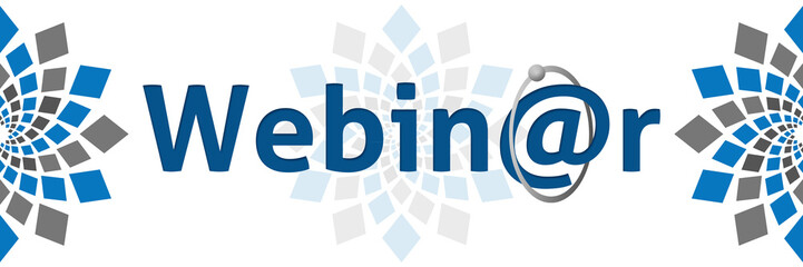 Webinar Blue Grey Square Elements