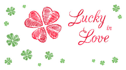 Lucky in Love greeting banner