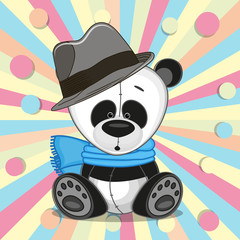 Panda with hat