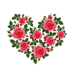 Rose flowers heart
