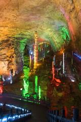 Yellow Dragon Cave, Zhangjiajie. China.