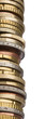canvas print picture - tower of different euro coins in close up shot
