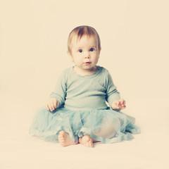 Little baby girl, vintage lovely card