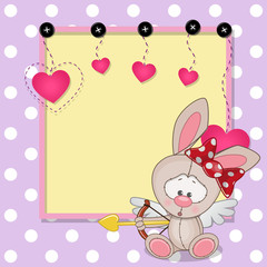 Cupid Rabbit with frame