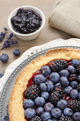 Blueberry and blackberry tart