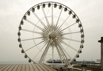 Ferris wheel and Pier at Brighton, East Sussex