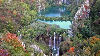 Plitvice Lakes Landscape in Croatia