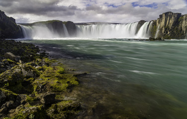 Godafoss, a beautiful waterfall