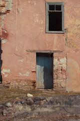 Стена заброшенного дома, Абхазия