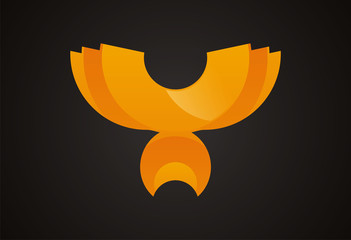 bird wings logo vector