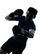 man exercising boxing boxer posture silhouette