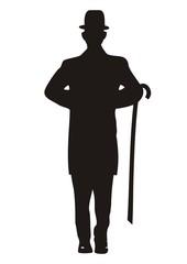 figurine, black silhouette