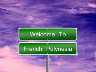 French Polynesia Travel Sign
