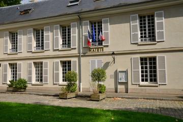 Ile de France, picturesque city hall of L Etang la Ville