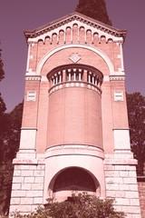 Rome cemetery - Campo Verano. Filtered colors.