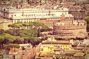 Rome. Cross processing color tone.