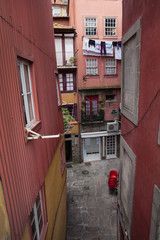 In the Old City of Porto in Portugal