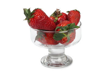 Strawberries juice in glass