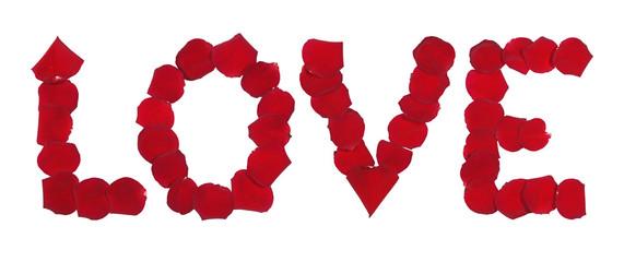 love en pétales de rose