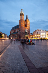 St Mary Basilica in Old Town of Krakow