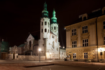 Church of St. Andrew at Night in Krakow