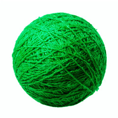 Green ball of yarn