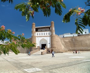 view of fortres Ark - Ark entrance - City of Bukhara
