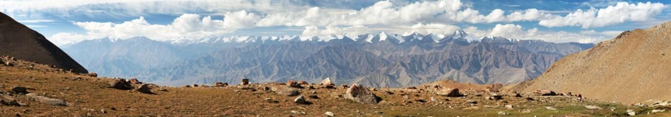 Panoramic view from Ladakh Range