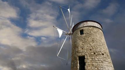 old Rhodes windmills, Greece