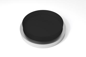 round black button on white surface