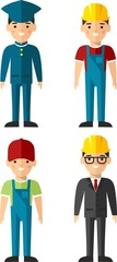Set of people icons. Occupation avatars in colorful style.