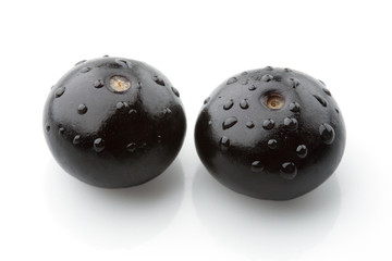 two blueberries isolated