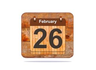 February 26.