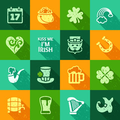 Colorful web icon set - Saint Patrick's Day collection