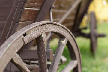 Old Cart's Wooden Wheel