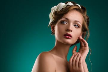 Portrait of beauty bride