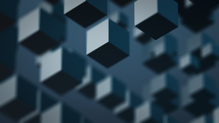 Pale Boxes Abstract Background