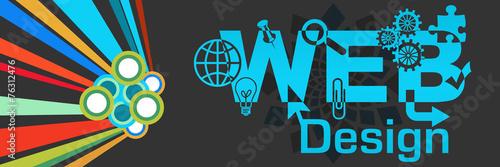 Leinwandbild Motiv Web Design Colorful Dark