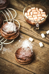 chocolate cakes bouchee  of a cream puff