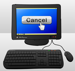 cancel button on computer