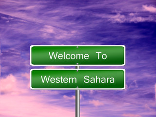 Western Sahara Travel Sign