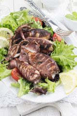 Grilled Calamari with Salad