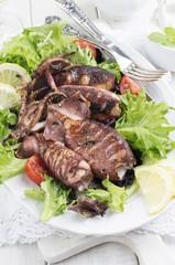 Grilled Calamari with Salad