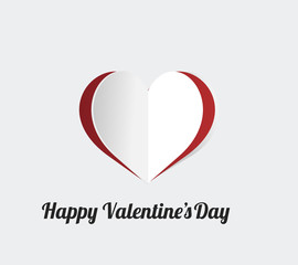 happy valentine illustration, heart over color background