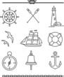 Nautical icons - 76313899